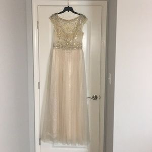 Dresses & Skirts - Champaign Beaded Formal Gown